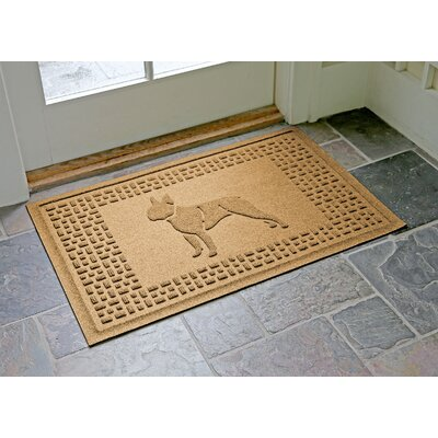 Aqua Shield Boston Terrier Doormat Color: Gold
