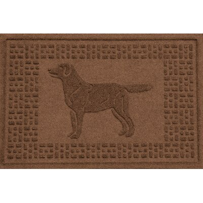 Conway Labrador Retriever Doormat Color: Dark Brown