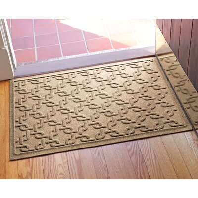 Aqua Shield Interlink Doormat Color: Camel