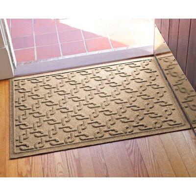 Aqua Shield Interlink Doormat Color: Camel