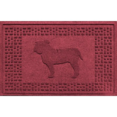 Aqua Shield Bulldog Doormat Color: Red/Black