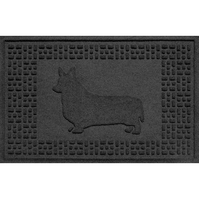 Conway Corgi Doormat Color: Charcoal