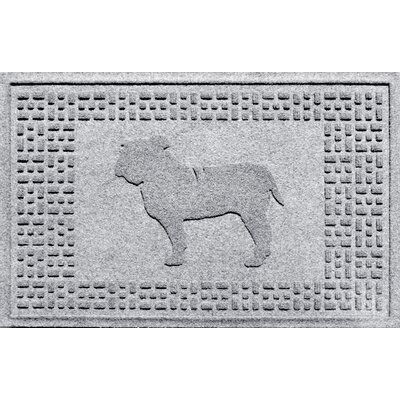 Aqua Shield Bulldog Doormat Color: White