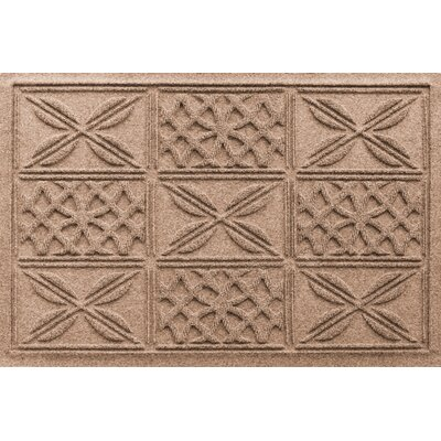 Aqua Shield Patchwork Grid Doormat Color: Medium Brown