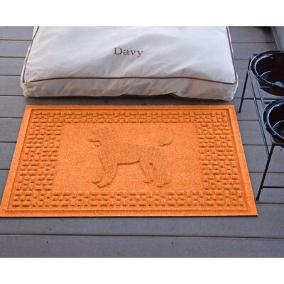 Aqua Shield Poodle Doormat Color: Orange