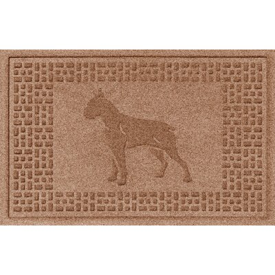 Aqua Shield Boxer Doormat Color: Medium Brown