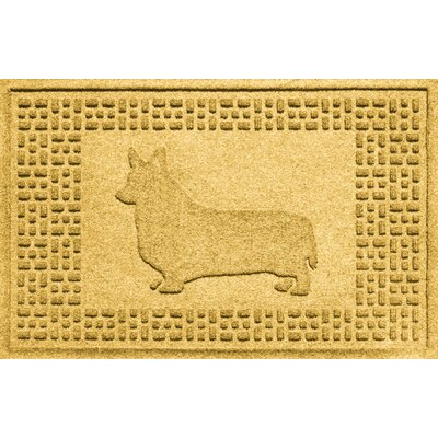 Conway Corgi Doormat Color: Yellow