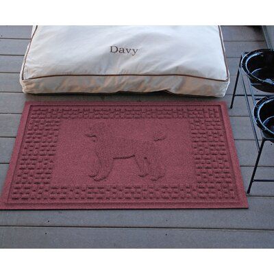 Conway Poodle Doormat Color: Bordeaux