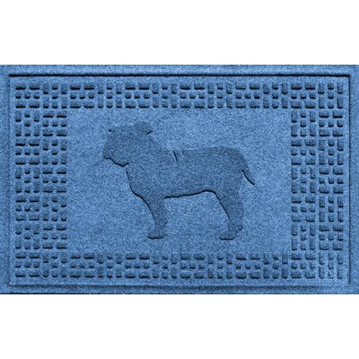 Aqua Shield Bulldog Doormat Color: Medium Blue