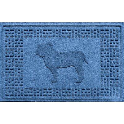 Aqua Shield Bulldog Doormat Color: Medium Blue