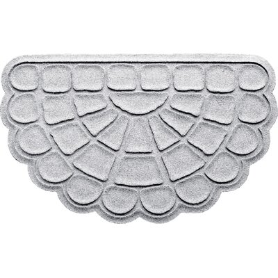 Aqua Shield Cobblestone Slice Doormat Color: White