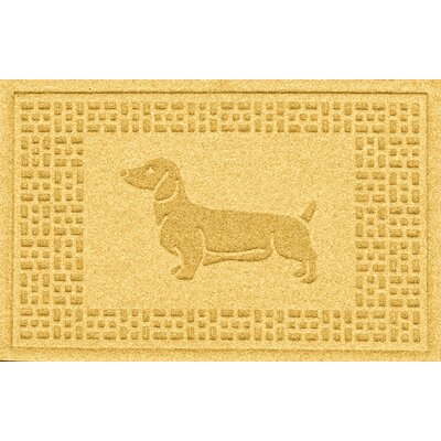 Conway Dachshund Doormat Color: Yellow