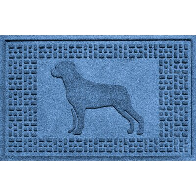 Aqua Shield Rottweiler Doormat Color: Medium Blue