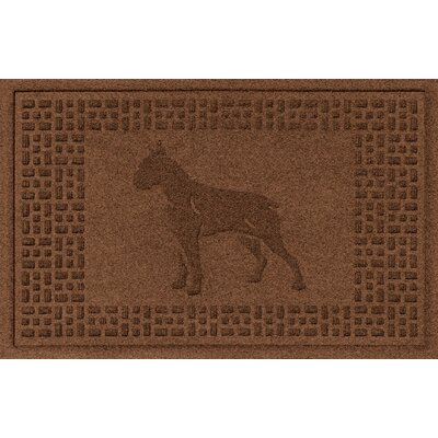 Aqua Shield Boxer Doormat Color: Dark Brown
