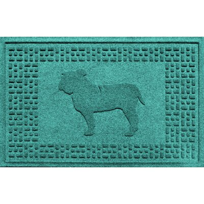 Aqua Shield Bulldog Doormat Color: Aquamarine