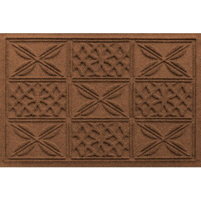 Aqua Shield Patchwork Grid Doormat Color: Dark Brown