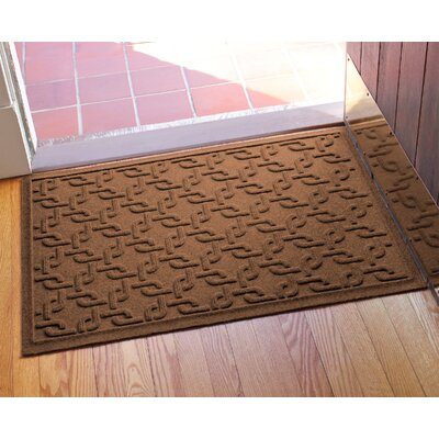 Aqua Shield Interlink Doormat Color: Dark Brown