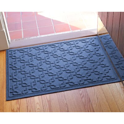 Aqua Shield Interlink Doormat Color: Navy