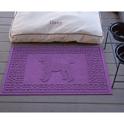 Aqua Shield Poodle Doormat Color: Purple