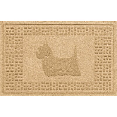 Aqua Shield Yorkie Doormat Color: Gold