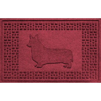 Conway Corgi Doormat Color: Red/Black