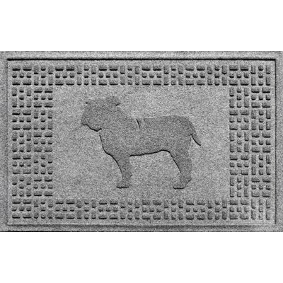 Aqua Shield Bulldog Doormat Color: Medium Gray