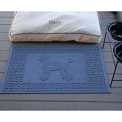 Aqua Shield Poodle Doormat Color: Navy