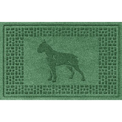 Aqua Shield Boxer Doormat Color: Light Green