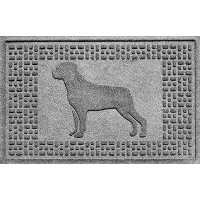 Aqua Shield Rottweiler Doormat Color: Medium Gray