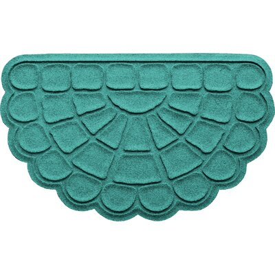Aqua Shield Cobblestone Slice Doormat Color: Aquamarine