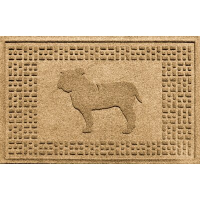 Aqua Shield Bulldog Doormat Color: Gold