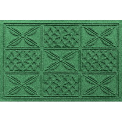 Aqua Shield Patchwork Grid Doormat Color: Light Green