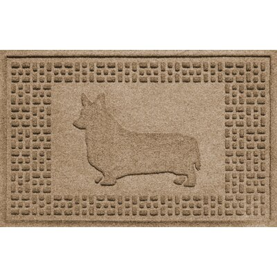 Conway Corgi Doormat Color: Camel