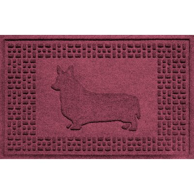 Conway Corgi Doormat Color: Bordeaux