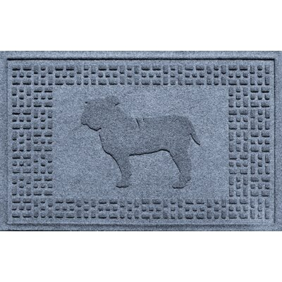 Aqua Shield Bulldog Doormat Color: Bluestone