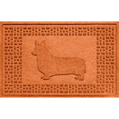 Aqua Shield Corgi Doormat Color: Orange