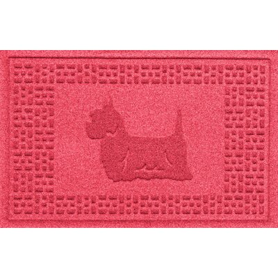Aqua Shield Yorkie Doormat Color: Solid Red