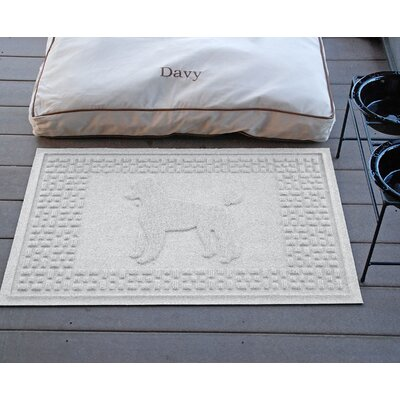 Aqua Shield Poodle Doormat Color: White