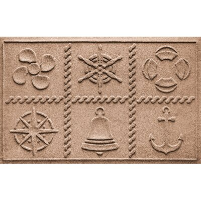 Aqua Shield Nautical Grid Doormat Color: Medium Brown