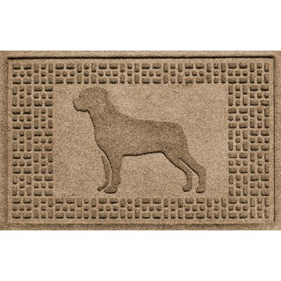Aqua Shield Rottweiler Doormat Color: Camel