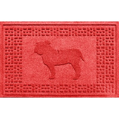 Aqua Shield Bulldog Doormat Color: Solid Red