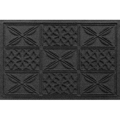 Aqua Shield Patchwork Grid Doormat Color: Charcoal