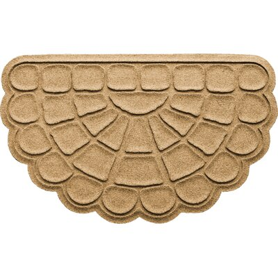 Aqua Shield Cobblestone Slice Doormat Color: Gold
