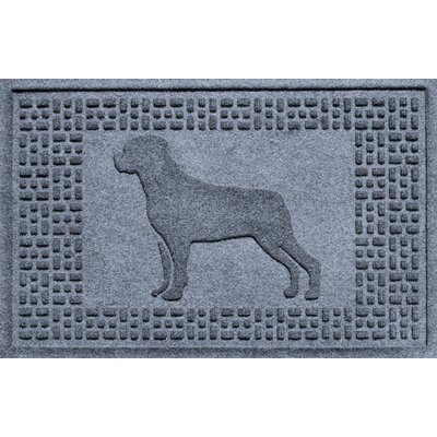 Aqua Shield Rottweiler Doormat Color: Bluestone