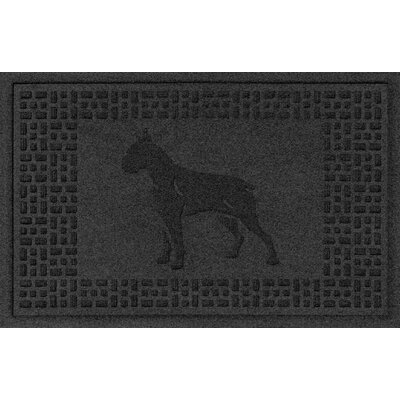 Aqua Shield Boxer Doormat Color: Charcoal