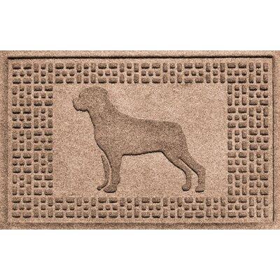 Aqua Shield Rottweiler Doormat Color: Medium Brown