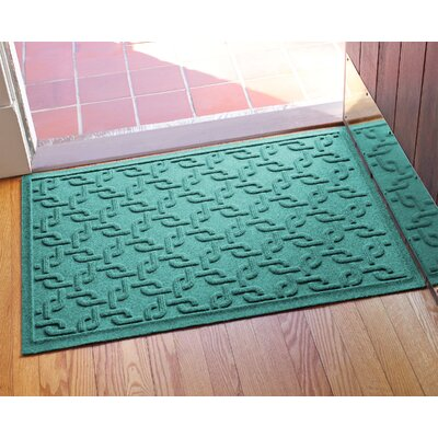 Aqua Shield Interlink Doormat Color: Aquamarine