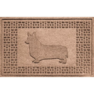Conway Corgi Doormat Color: Medium Brown