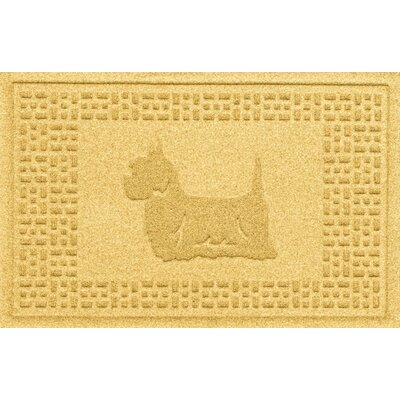 Aqua Shield Yorkie Doormat Color: Yellow