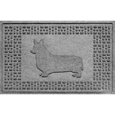 Aqua Shield Corgi Doormat Color: Medium Gray